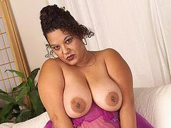Chubby mature housewife with big tits and hairy pussy