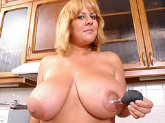 Chubby mature mom with big tits