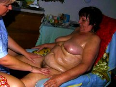 Chubby grandma loves the treatment of her girl