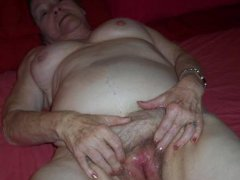 Old grannies, sagging tits,hairy pussy and blowjob