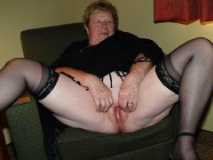Old chubby ladies, big tits, big hairy pussy