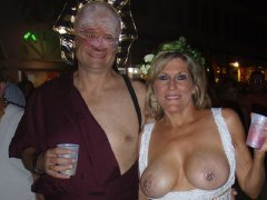 Mature and old ladies showing their big tits