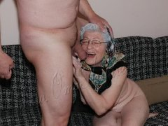 Old ladies sucking dick and is playing with toy