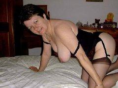 Horny old bbw chubby granny masturbating pussy