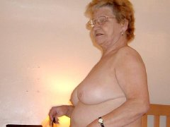 Old Chubby and big tits grannies sucking big cocks