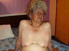 Very old naked lesbian granny with hairy pussy