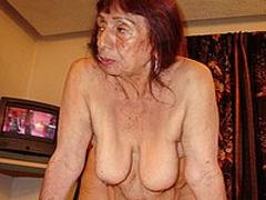 Sexy old chuby latina granny