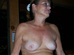 Amateur old matures showing her amazing big tits