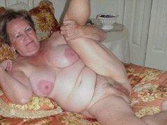 Horny Old chubby Granny Masturbating granny pussy
