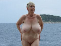 Big nature boobs from oldest amazing woman hard