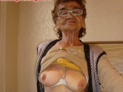 The hottest old mexico granny is horny and hard