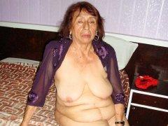 Amateur old latina granny with big saggy breats