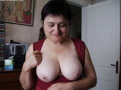 Old Germany grannies with big tits on the public