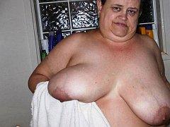 Natural mega boobs and puffy nipple