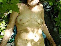 Natural hang granny boob photos