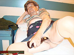 Horny granny licks old dick