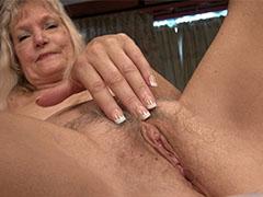 Old mature blonde grannies solo toys masturbation