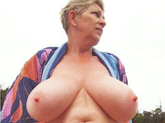 Old BBW mature awesome big boobs nude