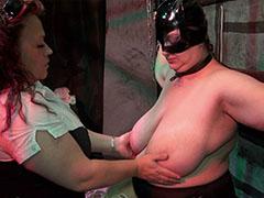 Fat BBW taking part in BDSM clip
