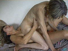 Granny on granny pussy lesbian action