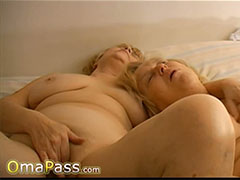 Two sexy granny ladies enjoying life