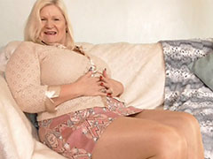 Old mature granny blonde fat bbw chunky chubby big tits solo showoff