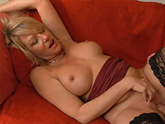 Horny mature blowjobed young man than fucked hard style