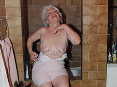 Horny old white haired grannies enjoying
