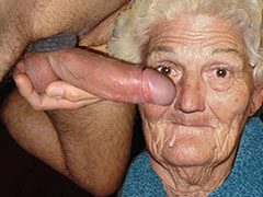 One pervert granny fucks another granny