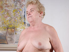 Fat horny granny pictured while naked