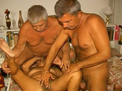 two old man and granny threesome teaser