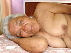 Shy sympathetic granny sucks old cock