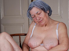 Sweet old granny hungry for huge cocks