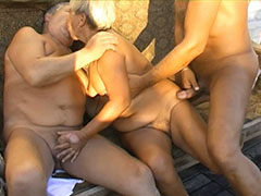 Older granny action video starring matures