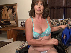Older granny ladies fingering and masturbating their old pussies with toys