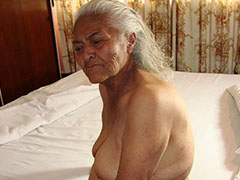 Extreme old latin grannies exposed naked