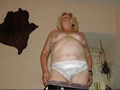 BBW chubby granny showing off naked