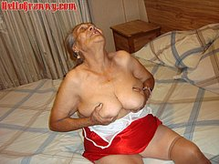 Amazing old lady possessing very big ass