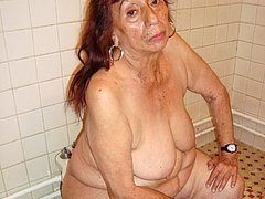 Amazing lady shows the body on the toilet