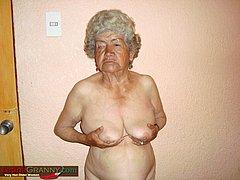 Amateur grandma play with bouncy boobs