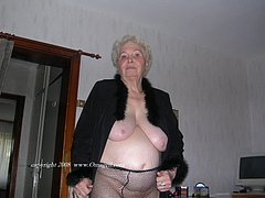 The oldest amateur grannies showing off