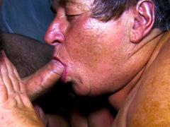 Chubby grannies loving sucking on dicks