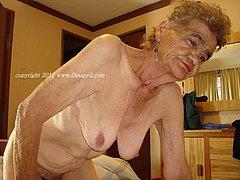 Grandmas showing off their wrinkled body