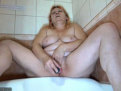 Mature women need her toy in the shower