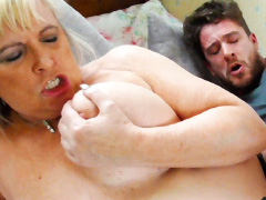 British blonde mature having sex with lover