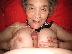 The oldest women on the net sucking dick