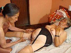 Grandmas showing their wrinkled bodies