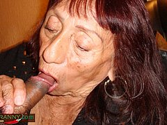 Amateur dirty granny is sucking great dick
