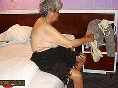 Granny fingering herself making some fun