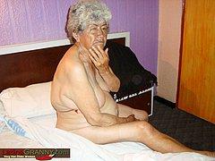 Senior woman sucks old man hard cock